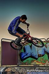 BMX ONLY AGENT (Skate Park Navia 2009) (Damin Iglesias Prez | PHOTODMN.com) Tags: park people color colour sport photoshop high nikon bmx dynamic gente asturias bicicleta skate only bici deporte agent retouch range hdr bikers navia d80