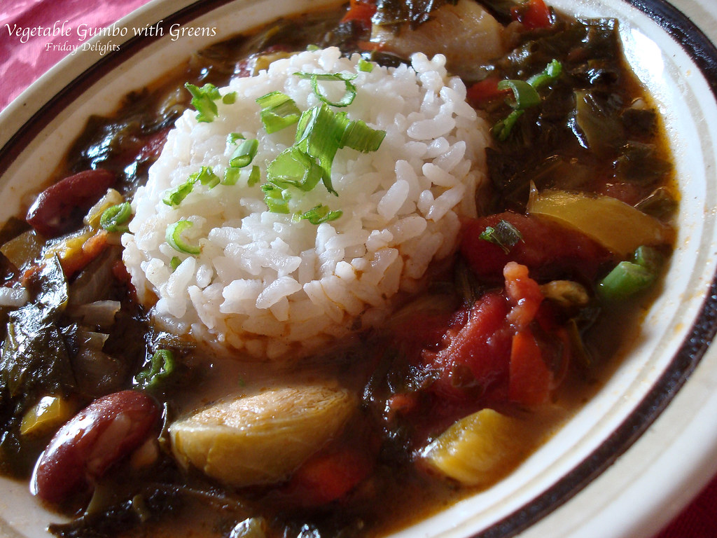 Creole Vegetable Gumbo with Greens | Friday Delights