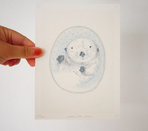 Winter Sea Otter print