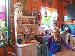 (Romany Soup) Tags: birdcage window kitchen teapot plates lantern dresser boho dreads crockery