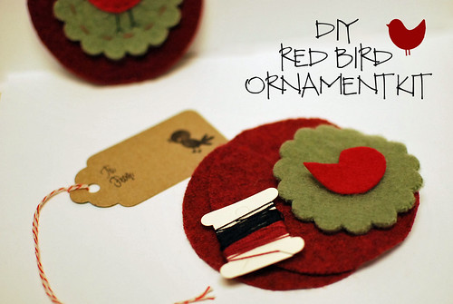 Red Bird Ornament Kit