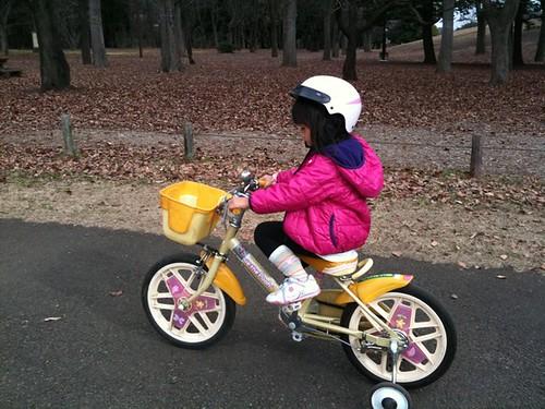 小金井公園で自転車レンタル。