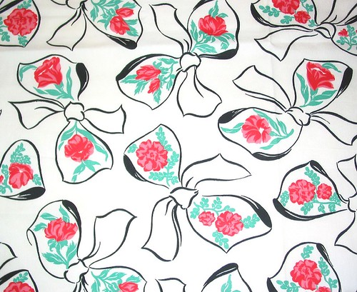 Vintage Bows and Roses Fabric