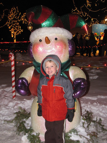 Benjamin and the cute snowman