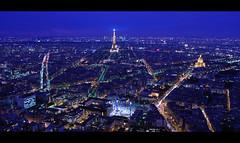 Awakened (night86mare) Tags: city travel blue paris france night lens landscape europe long exposure cityscape view kit montparnasse k20d