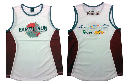 earth run 2010 - singlet