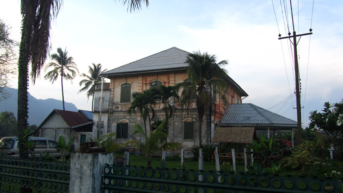 French Colonial Building in Champasak, Laos