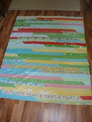 Jelly Roll Race quilt top for 1Choice4Quilting contest/race !