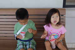 Enjoying their guri guri