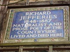 Photo of Richard Jefferies blue plaque