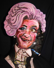 #409. Mollie Sugden as Mrs. Slocombe. 1922 - 2009. (hawhawjames) Tags: portrait art face painting james paint artist puppet you body being makeup mollie served tribute 365 mrs kuhn sugden slocombe