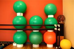 Balance Exercise Balls 7-3-09 3