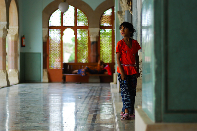 Girl at Albert Hall, Jaipur, India.