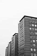 houses (Fernando W) Tags: city blackandwhite bw house building modern germany grey europe hamburg modernism urbanism klosterwall stadtgetty2010