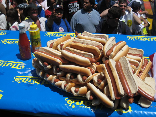 Hot Dog Eating Contest on Coney Island