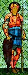 Faith, Malmesbury (robin.croft) Tags: abbey angel faith stainedglass anglican preraphaelite malmesbury burnejones