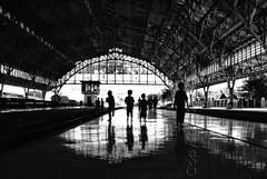 """It's our playground"" (diankarl (www.diankarlina.com)) Tags: bw boys silhouette architecture kids backlight reflections children indonesia java asia southeastasia interior colonial platform structure jakarta trainstation backlit northjakarta tanjungpriuk tanjungpriok jakartautara diankarl diankarlina wwwdiankarlinacom"