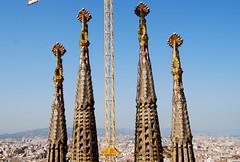 View from the top (Kikko Design) Tags: barcelona travel spain catalunya sagradafamilia monuments barcellona spagna gaudì kikko gaud kikka kikkoekikka patoepaty