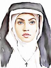 The nun (piker77) Tags: portrait woman painterly art face digital photoshop watercolor painting interesting media natural retrato aquarelle digitale manipulation simulation nun peinture illusion virtual watercolour transparent acuarela tablet technique wacom ritratto stylized pintura portre  imitation  aquarela aquarell emulation malerei pittura virtuale virtuel naturalmedia bildnis aplusphoto    piker77wc  arthystorybrush