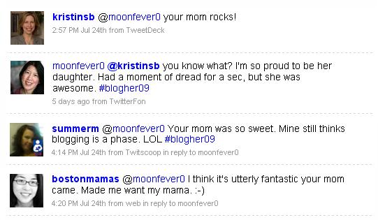 Mom tweets