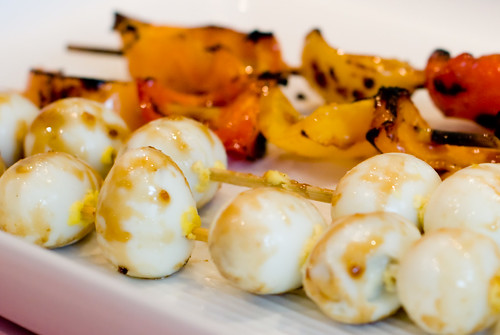 Quail Eggs and Peppers