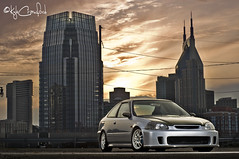 Raza's Civic Coupe. (Kyle Crawford) Tags: skyline honda nikon tn nashville tennessee spoon civic coupe raza mugen d300 valeo