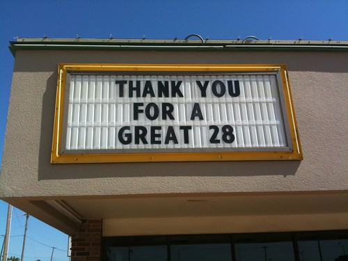 Thank you for a Great 28 (years)