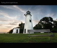 Sunset at Turkey Point Light House (consciouseye) Tags: maryland tokina1224 elkneckstatepark canon40d turkeypointlighthouse