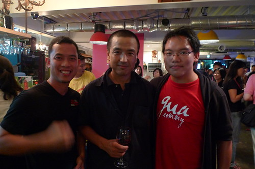 Ming Jin and I with Lou Ye 娄烨