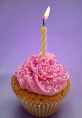 Classic birthday cupcake