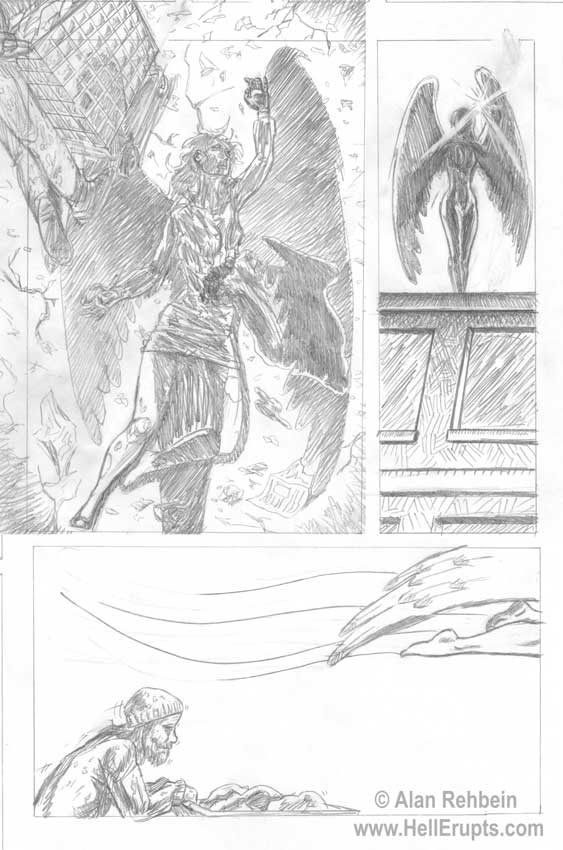 Hell Erupts pencil preview page 1