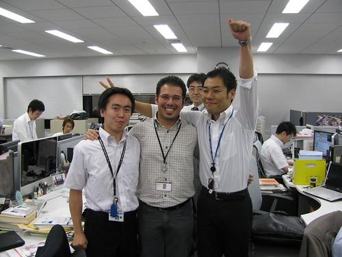 Con Kentaro e il pazzo Daiki... anch'egli ex-Vulcanus (ma in EU)!
