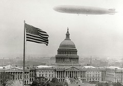 Graf Zeppelin over Capital Building (lazzo51) Tags: washingtondc aviation capital science congress blimps airships zeppelins luftschiff dirigibles grafzeppelin lz127