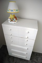 Dresser and Lamp for Rose (Vegan Butterfly) Tags: baby lamp used thrift dresser find