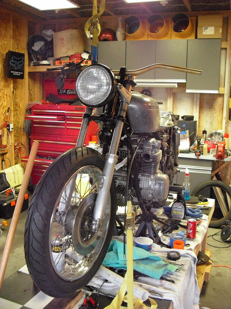 Motorcycle Garages Only The Garage Journal Board 1975 Gi1000 Gold Wing Wiering Heres My Mess