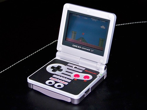 Frontlit GBA SP NES Limited Edition. Anyone can see this photo