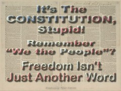 It's the Constitution, Stupid!  Remember &quot...