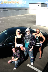 DJ Famous (Fotomahler) Tags: man male car fashion vw female portrt frau lowrider fotomahler