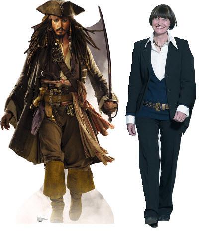 Fotomontage Jack Sparrow vs. Micheline Calmy-Rey