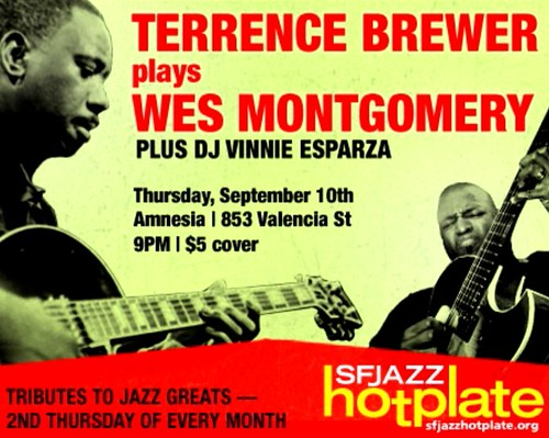 Terrence Brewer plays Wes Montgomery