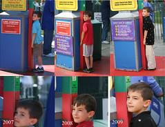 Fletcher at Six Flags - 2007, 2008, 2009