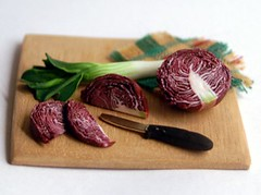 Red cabbage in 1:12 scale