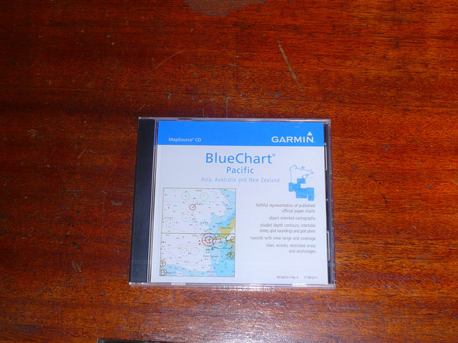 Newest edition of Garmin Bluechart for the Pacific