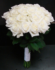 Two Dozen White Rose Brides Bouquet (Westosha Floral) Tags: wedding white rose bride bridesmaid bouquet bridal