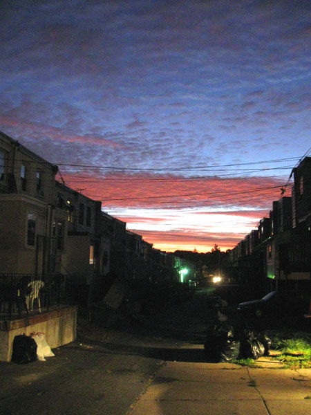 Sun Rises Over Our Alley (Click to enlarge)