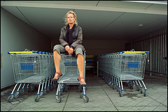 At the shop (KoekMan) Tags: women parking sigma shoppingmall lidl winkelwagen parkeergarage lotsofthem dp1 polaroidlook womenlookingangry trytolookasdepressedaspossible