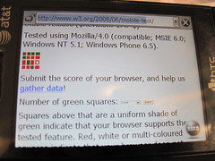 WCTMB running on Windows Mobile 6.5 (IE6)