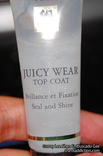 Lancome Juicy Wear Top Coat Seal and Shine by you.