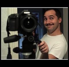 to me or not to me? (paolomezzera) Tags: portrait selfportrait canon paul eos mirror moustaches ritratto manfrotto baffi 50d 804rc2 190xprob mezzer paulmezzer
