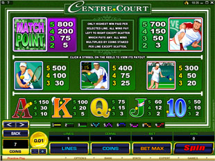 free Centre Court slot mini symbol